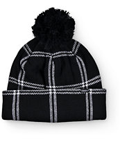 Obey Chuck Black Plaid Beanie
