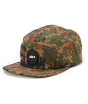 Obey Circle Patch Camo 5 Panel Hat