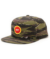 Obey Circle Patch Camo Snapback Hat
