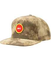 Obey Circle Patch Mud Camo Snapback Hat