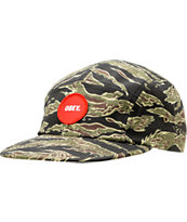 Obey Circle Patch Tiger Camo 5 Panel Hat