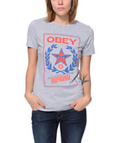 Obey Classic Crest Grey T-Shirt