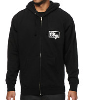 Obey Club Script Zip Up Hoodie