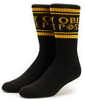 Obey Cold Lampin Black & Gold Crew Socks