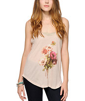 Obey Confidential Floral Tank Top