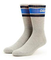 Obey Cooper Navy & Grey Crew Socks