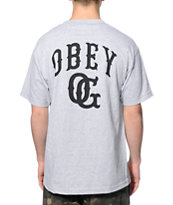 Obey Cooperstown Grey Pocket Tee Shirt