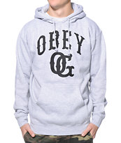 Obey Cooperstown Heather Grey Pullover Hoodie