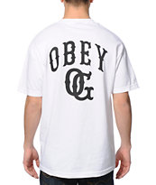 Obey Cooperstown White Pocket Tee Shirt