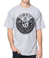 Obey Countdown Grey Tee Shirt