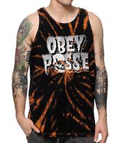Obey Creeps Bleach Spiral Tank Top