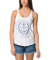 Obey Cruise Liner White Racerback Tank Top