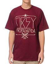 Obey Daggers Burgundy T-Shirt