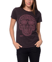 Obey Day Of The Dead Purple Tri-Blend Tee Shirt