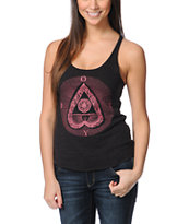 Obey Dead Heart Heather Charcoal Racerback Tank Top