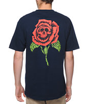 Obey Death Rose Blue Pocket Tee Shirt
