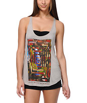 Obey Deep Mountain Charcoal Grey Melody Tank Top