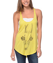Obey Deer Skull Yellow Melody Tank Top