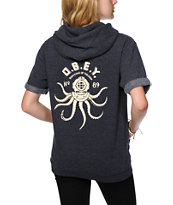 Obey Denizen Of The Deep Navy Short Sleeve Hoodie