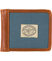 Obey Detour Mallard Blue Bifold Wallet