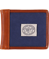 Obey Detour Navy Blue Bifold Wallet