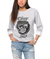 Obey Devious Scumbags Crew Neck Sweatshirt