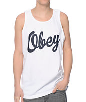 Obey Dewallen White Tank Top