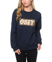 Obey Drug Rug Crew Neck Sweatshirt
