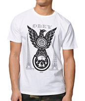 Obey Eagle Tower White Tee Shirt