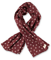 Obey Early Bird Burgundy Scarf