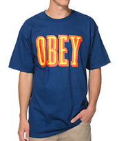 Obey Easy Living Blue Tee Shirt