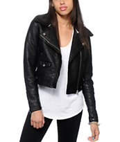 Obey Eddie Faux Leather Jacket