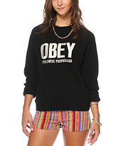 Obey Ellis Black Crew Neck Sweatshirt