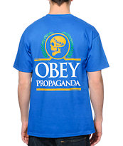 Obey Emperor Blue Tee Shirt
