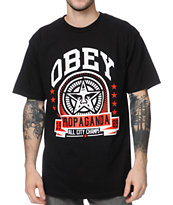 Obey Extra Innings Black Tee Shirt