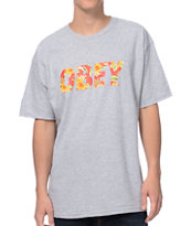 Obey Faster Times Heather Grey Tee Shirt