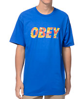 Obey Faster Times Royal Blue Tee Shirt
