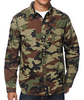 Obey Field Assassin Camo Long Sleeve Button Up Shirt