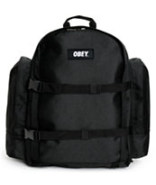Obey Field Black Backpack