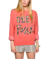 Obey Floral Posse Throwback Crew Neck Sweatshirt