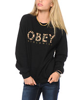 Obey Floral Worldwide Crew Neck Sweatshirt