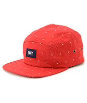 Obey Franklin Red 5 Panel Hat