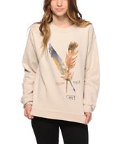 Obey Freedom & Peace Crew Neck Sweatshirt