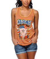 Obey Freedom Skull Brown Rookie Tank Top