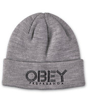 Obey Freestyle Grey Beanie