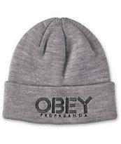 Obey Freestyle Grey Beanie