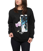 Obey Future Floral Crew Neck Sweatshirt