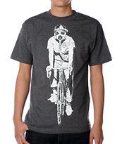 Obey Gas Mask Biker Glow In The Dark Charcoal T-Shirt