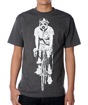 Obey Gas Mask Biker Glow In The Dark Charcoal Tee Shirt
