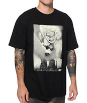 Obey Gas Mask Over LA Black T-Shirt